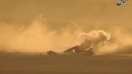 Trực thăng Nga trúng rocket, bốc cháy ngùn ngụt