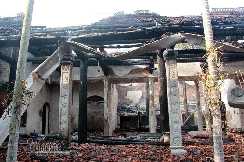 Hà Nội: Tìm ra nguyên nhân cháy rụi điện thờ chùa cổ