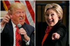 Hillary và Trump bám đuổi nhau sát sạt