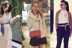 Mặc áo len mùa đông tôn dáng như Thanh Hằng, Minh Hằng