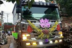 Đám cưới trên xe tải độc nhất vô nhị ở Vĩnh Phúc