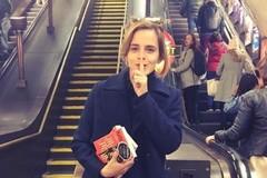 Emma Watson và ý tưởng giấu sách ở ga tàu điện ngầm