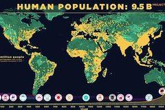 Tua nhanh quá trình dân số thế giới tăng đột biến theo thời gian