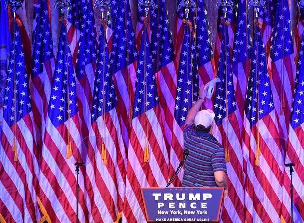 Bên trong phòng tiệc ngày bầu cử của Trump