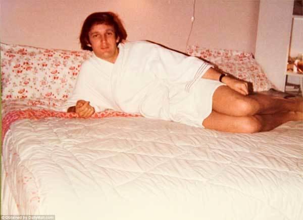 Ảnh hiếm thời trẻ của ông Trump