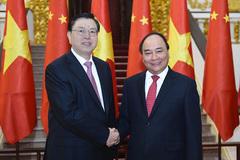 Thủ tướng hội kiến Chủ tịch QH Trung Quốc