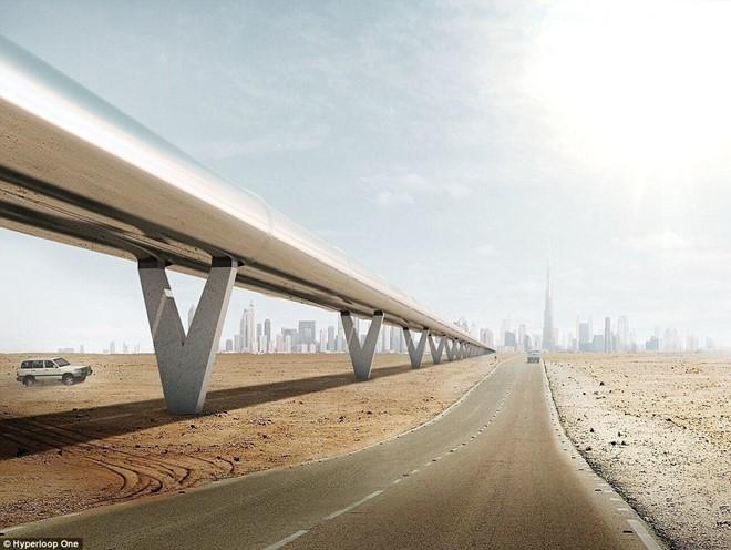 """hệ thống """"tàu"""" cao tốc,  công nghệ Hyperloop, Dubai, Ả rập, đường sắt, giao thông"""