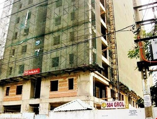 Dự án 584 Lilama, dự án bất động sản đắp chiếu, hợp đồng mua bán căn hộ, dự án chậm bàn giao