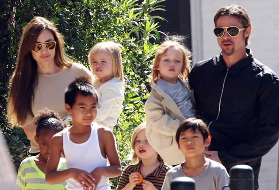 Brad Pitt, Julia Roberts, Angelina Jolie, Brad Pitt Angelina Jolie li hon, Moonlight