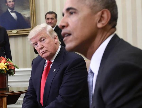 Những bức ảnh 'tố' Obama - Trump vẫn 'đồng sàng dị mộng'
