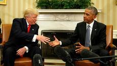 Hình ảnh hội đàm lịch sử giữa Obama và Trump