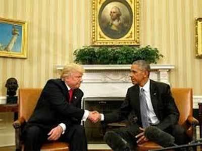 Video cuộc gặp giữa Obama và Donald Trump