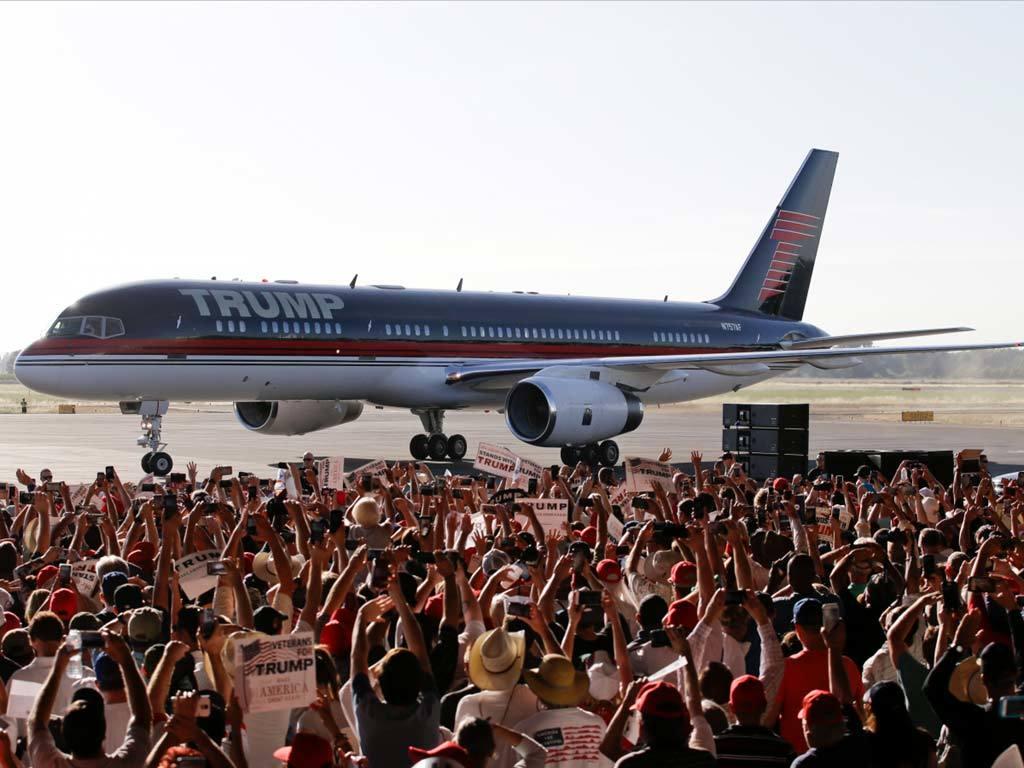 Chủ nhân tương lai của Nhà Trắng, máy bay Boeing, nước Mỹ, chiến dịch tranh cử,  'Trump Force One', phi cơ, Donald Trump
