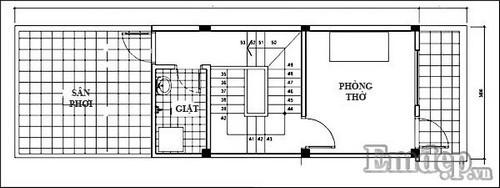 Tư vấn xây nhà 3 tầng 35m2 xinh xắn
