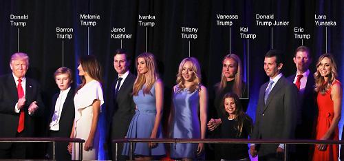 tổng thống Mỹ, Donald Trump, gia đình donald trump, tân tổng thống mỹ, con cái Donald Trump, vợ Donald Trump