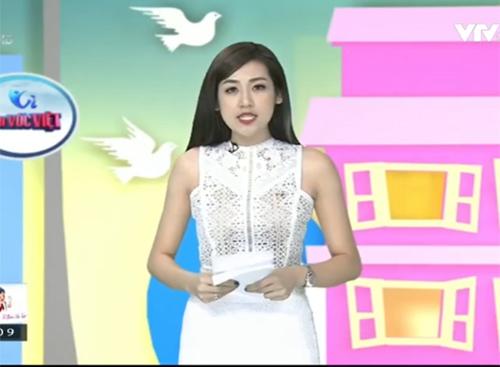 Sự cố hy hữu không ngờ của Á hậu Tú Anh trên sóng VTV1