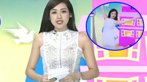 Á hậu Dương Tú Anh gặp sự cố truyền hình