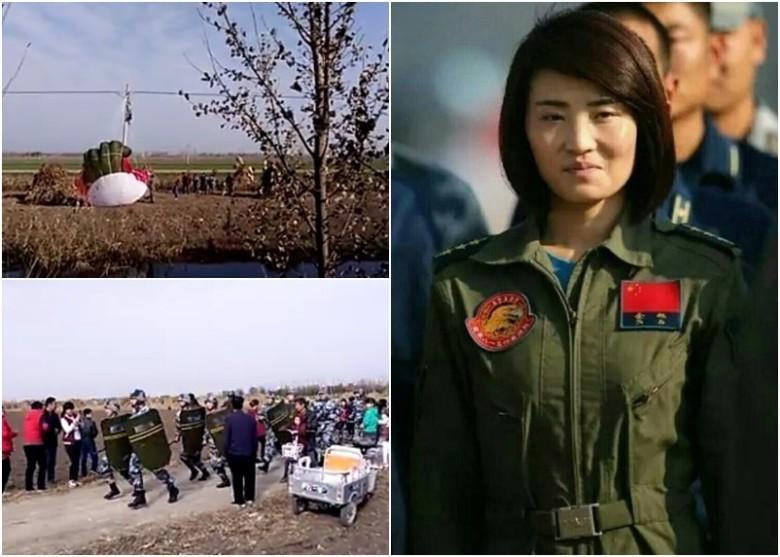 Chiến cơ TQ rơi, nữ phi công tử nạn