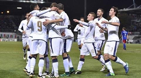 Video bàn thắng Liechtenstein 0-4 Italia