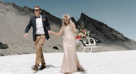 Bộ ảnh cưới tuyệt đẹp trên núi tuyết, sông băng