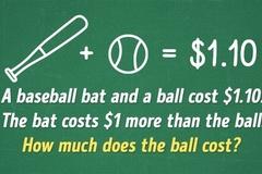 Bài toán tính giá bóng chày chỉ 10% giải được