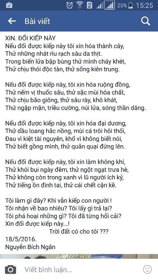 bài thơ, cộng đồng mạng, Facebook