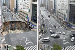 Xem Nhật Bản lấp 'hố tử thần' chớp nhoáng