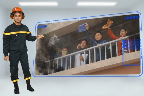 Thoát hiểm khi có cháy ở chung cư
