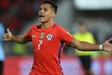 Sanchez lập cú đúp, Chile ngược dòng hạ Uruguay