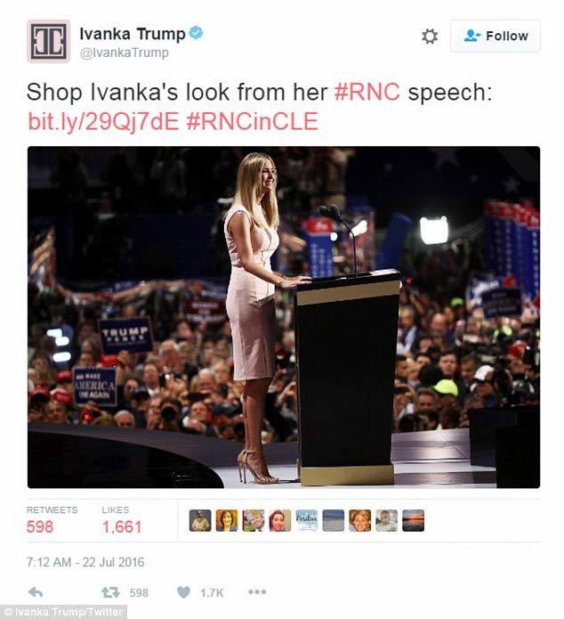 Ái nữ nhà Trump 'khoe khéo' vòng tay giá hàng trăm triệu