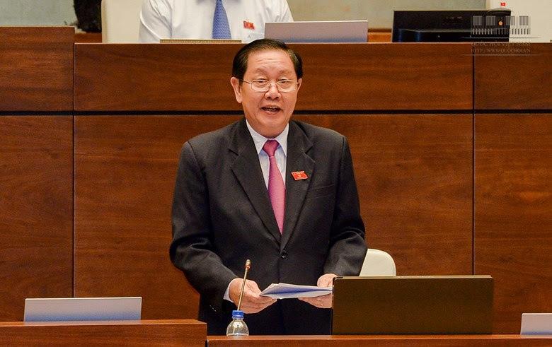 Bộ trưởng Nội vụ Lê Vĩnh Tân đăng đàn
