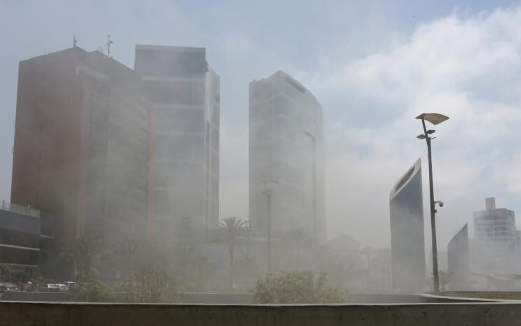 Hỏa hoạn lớn ngay gần khách sạn Obama ở