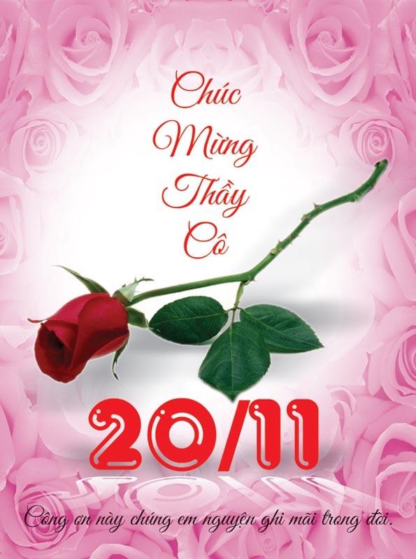 Thiệp chúc mừng ý nghĩa nhân ngày Nhà giáo Việt Nam 20-11
