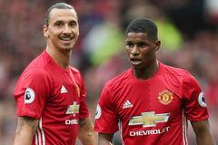 Mourinho gạt Rooney, xếp Rashford đá cắm thay Ibra