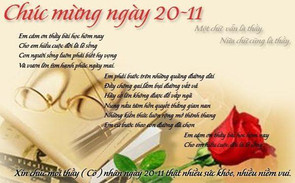 Chùm thơ về ngày 20 - 11