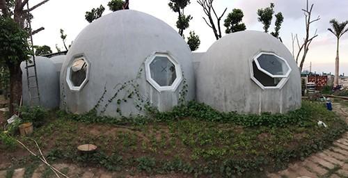 Ngôi nhà tròn 'có một không hai' bố Hà Nội tự tay xây tặng con trai