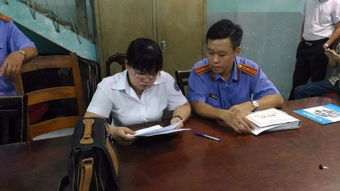 Bắt nguyên cán bộ thi hành án quận 3-TPHCM