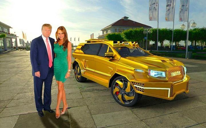 Siêu xe bọc vàng dành riêng cho 'Tổng thống Trump'