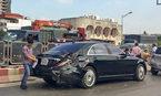 Hà Nội: Xe bạc tỷ gặp nạn ở đường trên cao