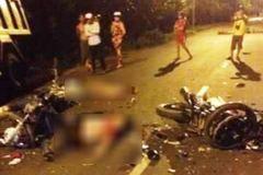5 thanh niên tử vong khi 2 xe máy nát bét trong đêm
