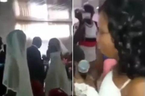 Chú rể chết đứng khi tình nhân mặc váy giống hệt cô dâu