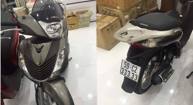 Một xe máy Honda SH đời cũ đổi được hai 'xế hộp'?