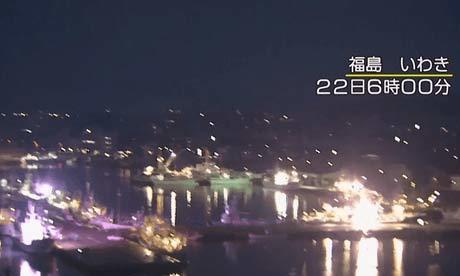 Khoảnh khắc động đất tấn công thành phố Iwaki