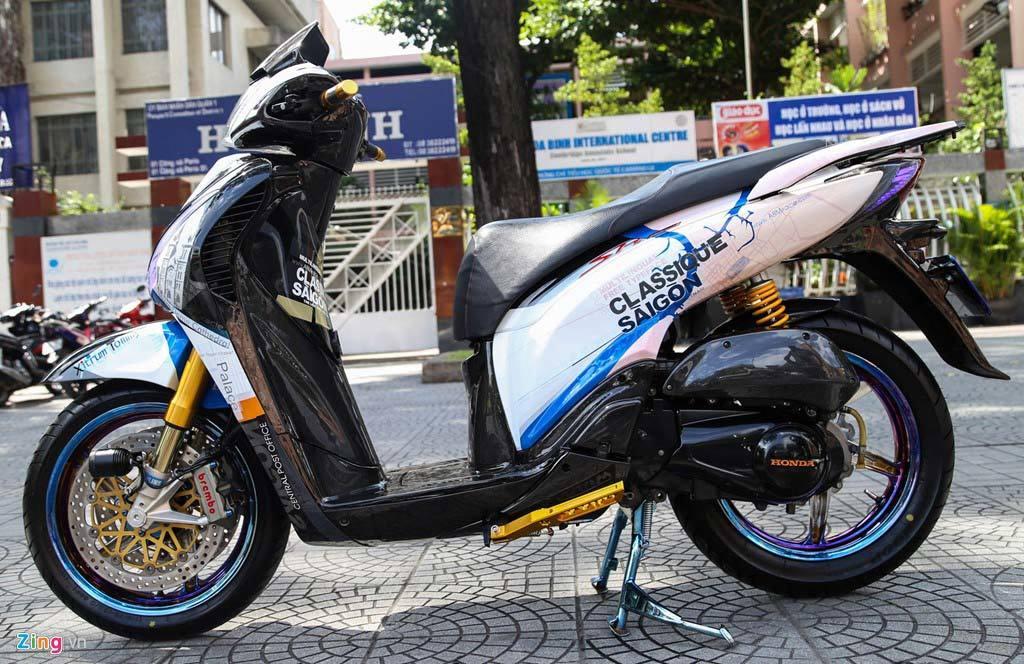 Honda SH biển ngũ quý độ trên 200 triệu của biker Sài Gòn