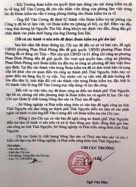Thái Nguyên: Giám đốc hành hung cán bộ thanh tra