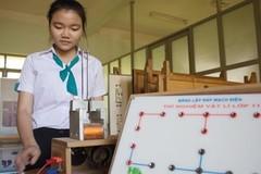 Nữ sinh trường huyện sáng chế phanh điện từ cho ô tô