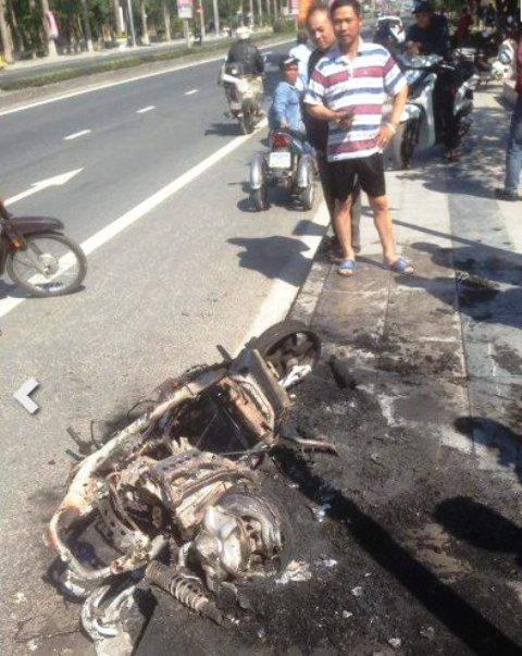 đốt xe, nam thanh niên đốt xe, Hà Nam, Bị CSGT phạt