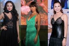 Hai Hoa hậu gây phản cảm vì trào lưu khoe nội y đi sự kiện