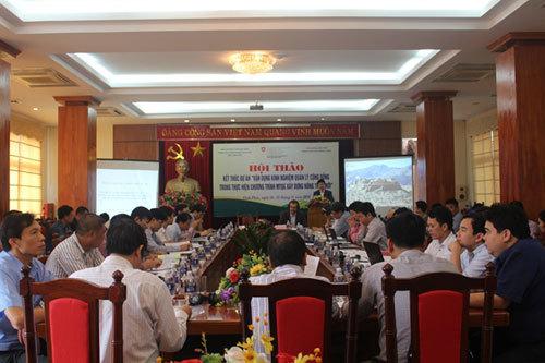 Bài học xây dựng nông thôn mới của Bộ Nông nghiệp