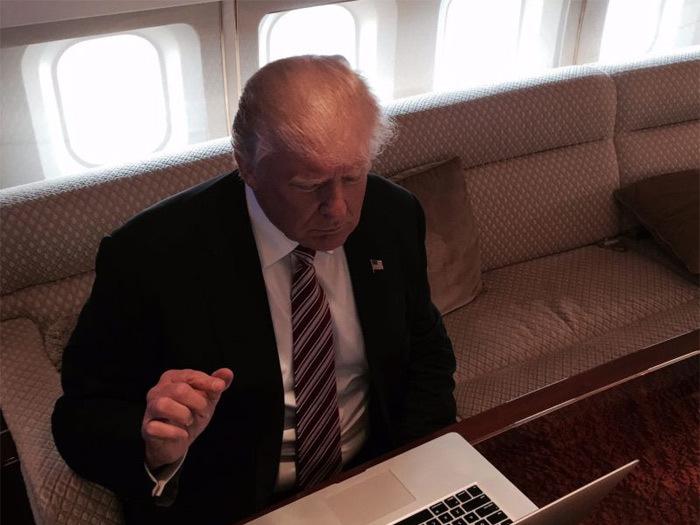 Những hình ảnh ít thấy ở Trump